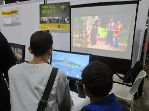 Photo: Kids Learning Programming through the duck game developed at VR Lab at BSU