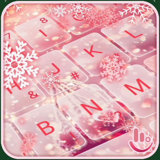 Pink Snow Keyboard Theme Icon
