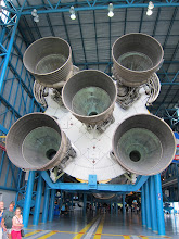 Photo: A real Saturn Rocket at Kennedy Space Center. One of only three in existence that haven't been launched.