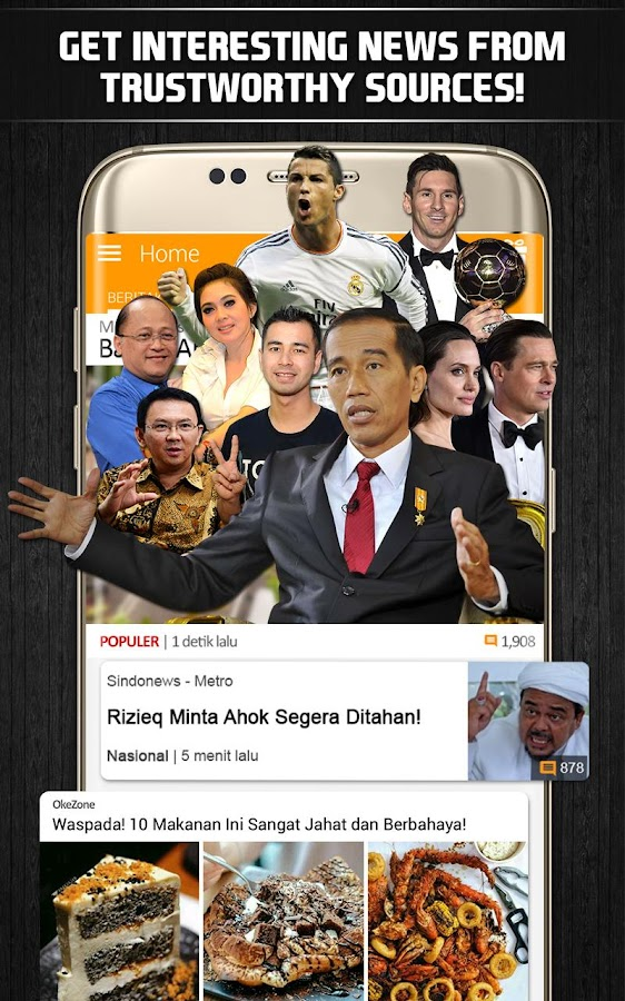 Screenshots of BaBe - Baca Berita for iPhone