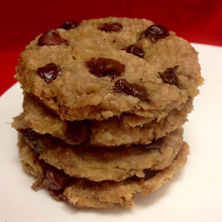 Microwave Peanut Butter Chocolate Chip Cookies.