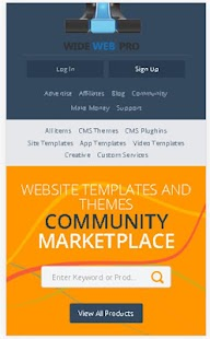 Widewebpro Digital Marketplace- screenshot thumbnail