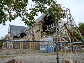 Photo: The current state of Christchurch Cathedral, with rebuilding underway.