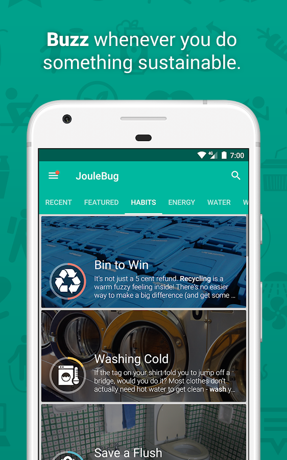 JouleBug- screenshot