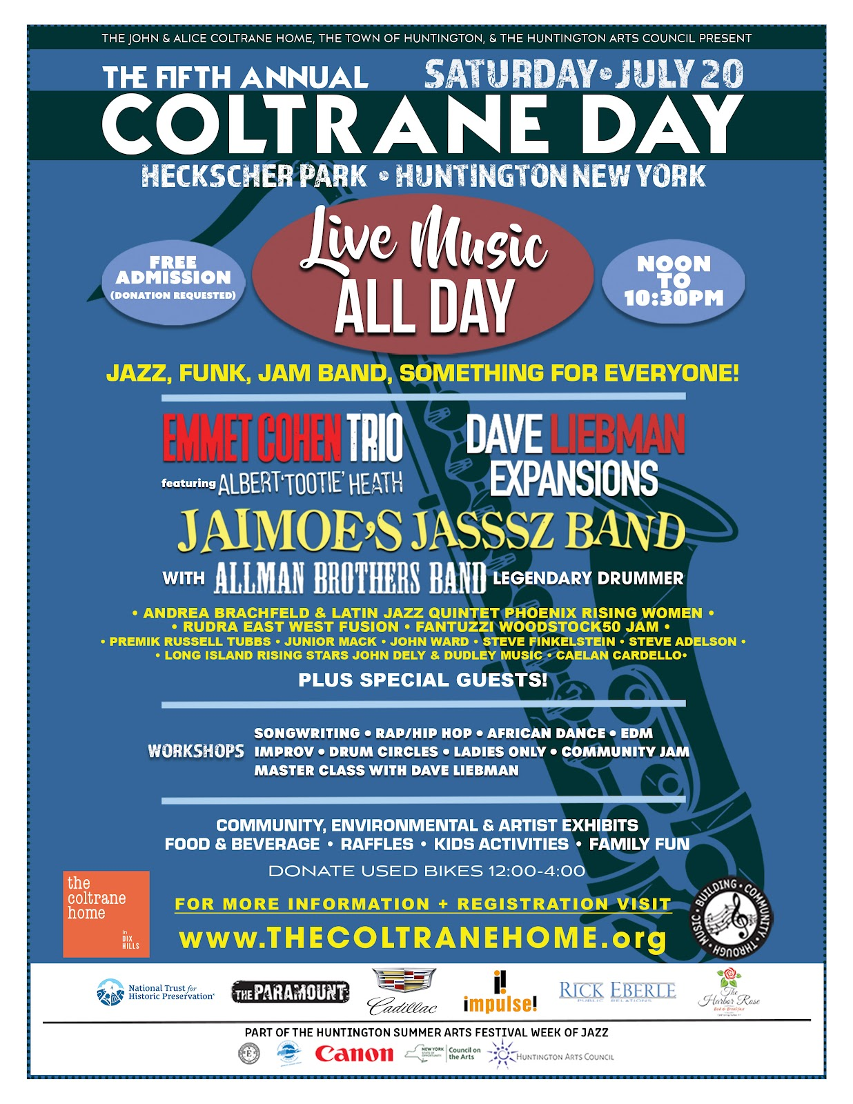 Fifth Annual Coltrane Day Music Celebration Returns to