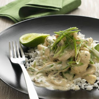 Chicken and Leek Fricassee with Rice.