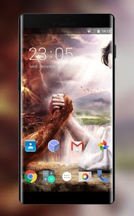 Theme for Intex Cloud FX Jesus vs Satan Wallpaper - náhled