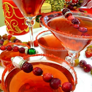 Cranberry-Spiced Martini Cocktail.