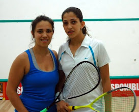 Photo: Genevieve Lessard and Blanca Vallarta after their match.