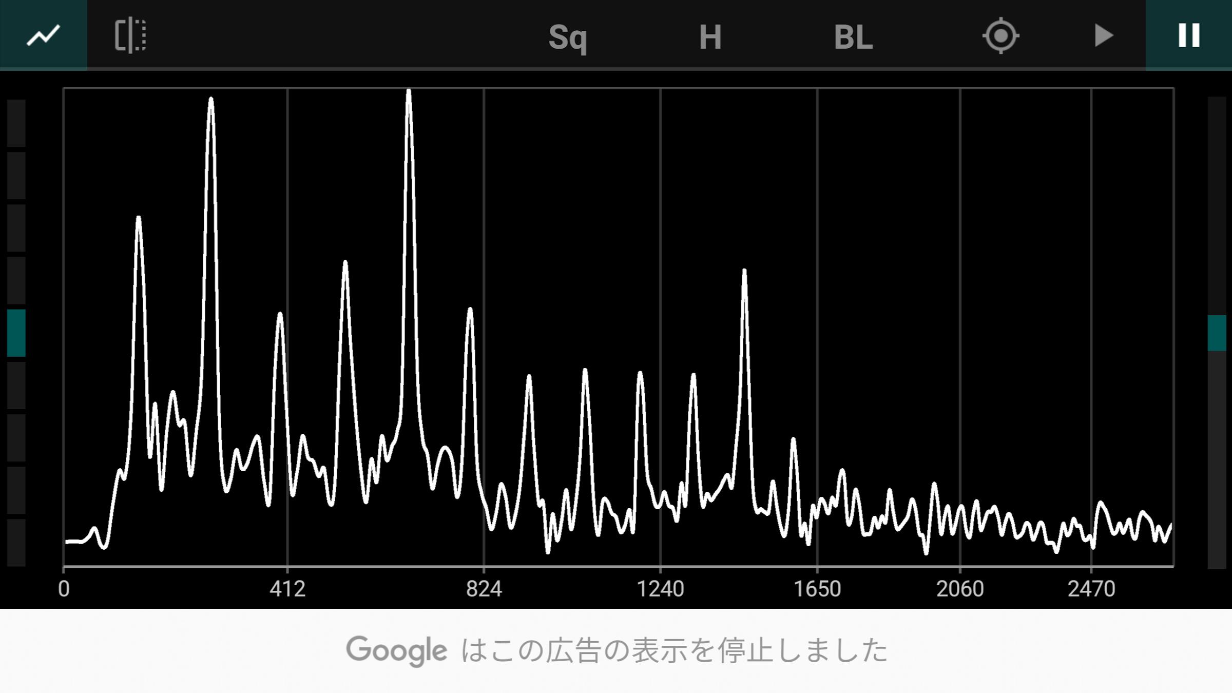 声の倍音を計測した画像