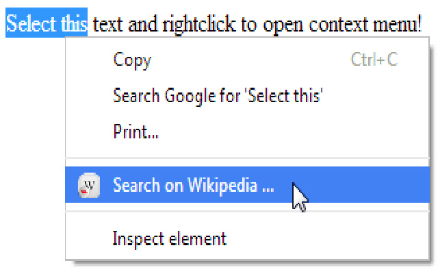 Search on Wikipedia button (by CE-SA.org)