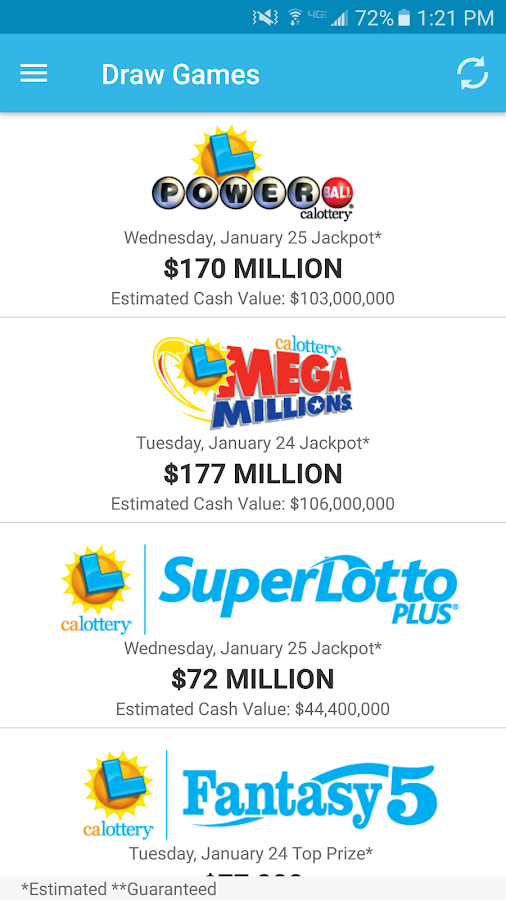 CA Lottery Official App- screenshot