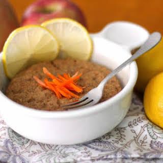 Healthy Single-Serving Microwave Carrot Cake Muffin (refined sugar free, gluten free, vegan).