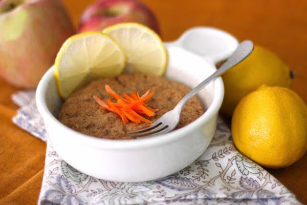 Healthy Single-Serving Microwave Carrot Cake Muffin (refined sugar free, gluten free, vegan)