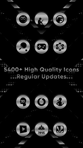 Silver Black Delight Icons screenshot 3