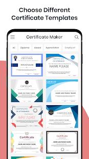 Certificate Maker & Certificate Generator App