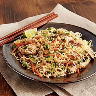 Chinese Pork Tenderloin with Garlic-Sauced Noodles.
