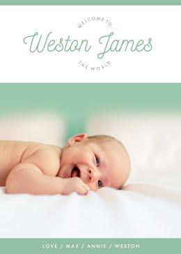 Brand New Baby - New Baby Announcement item