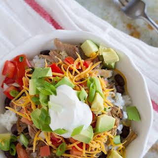Pork Carnitas Burrito Bowl.