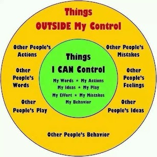 Focus on things we CAN control: