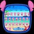 Pink Monster Keyboard Theme icon