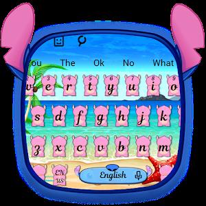 Pink Monster Keyboard Theme