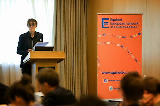 Photo: Marie Becker discussing good practices from the French Defender of Rights (presentation available at http://goo.gl/GiAWK5)  Equinet's Gender Equality Training Event on Equal Pay (18-19 September - Lisbon, Portugal)  http://goo.gl/GiAWK5  © Equinet 2013