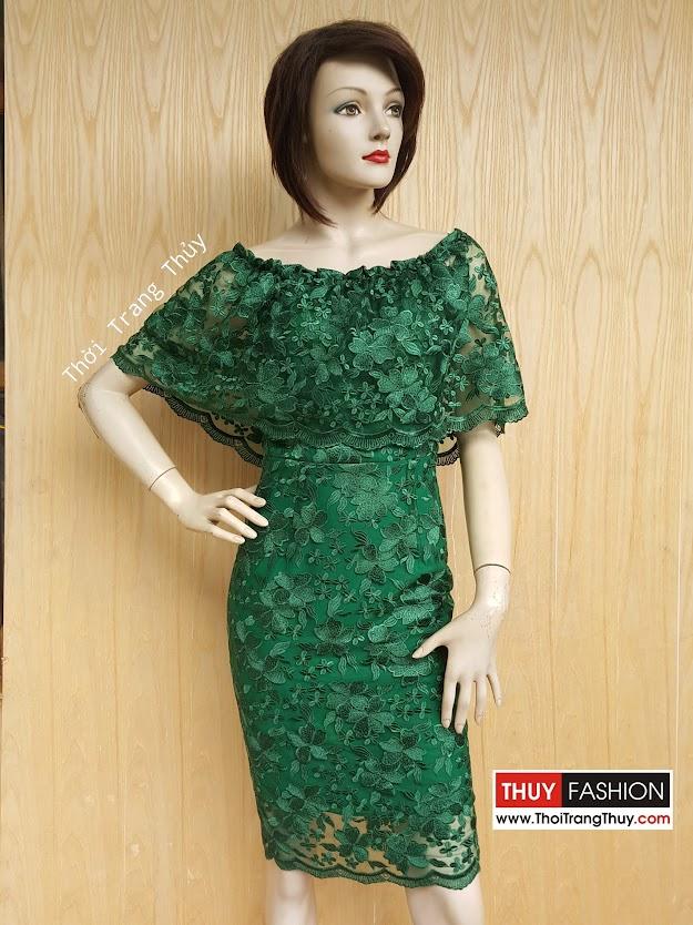 Váy ren dáng ôm bút chì thời trang thủy hải phòng