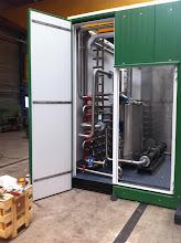 Photo: Warmtewisselaar en buffertank voor BTS ammoniakstripper