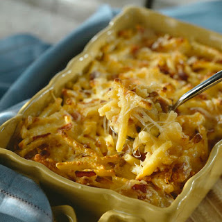 Light and Creamy Macaroni and Cheese Bake.