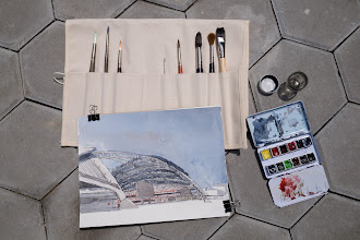 Photo: Escoda and Da Vinci watercolour brushes