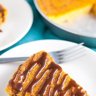 Pumpkin Cheesecake with Cinnamon Caramel Sauce Recipe