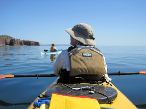 Photo: From San Francisco Bay, we paddled north along the east side of Carmen Island to explore  before turning around and heading for a campsite at the southeastern tip of the island.