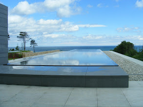 Photo: This reflecting pool leads directly out to the Channel.