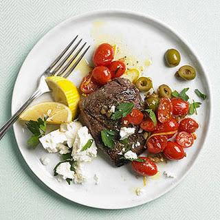Greek Flat Iron Steaks.
