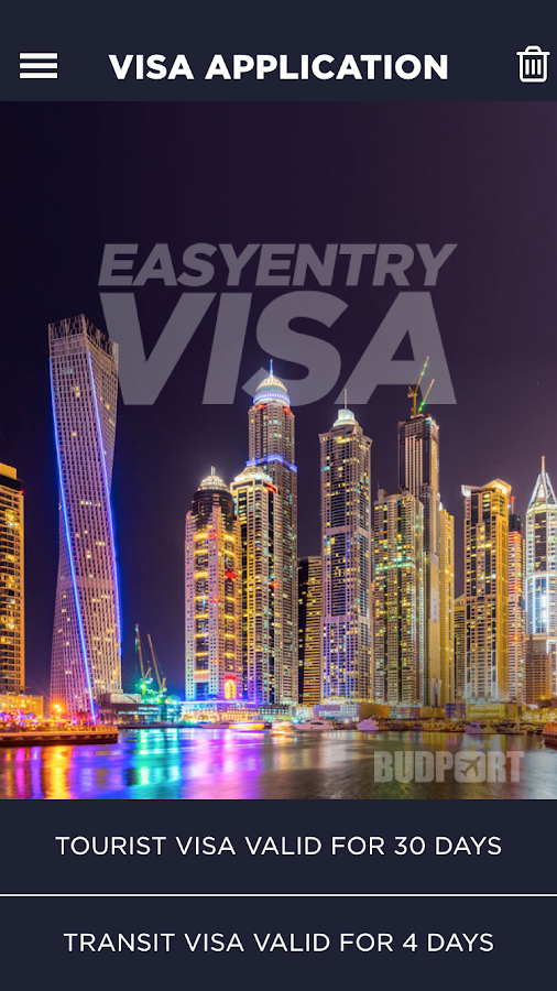 Visa to Dubai- screenshot