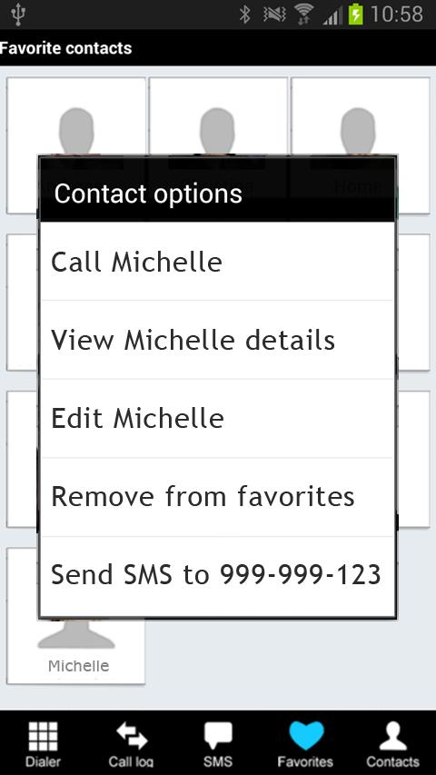 Fast Dialer- screenshot