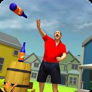 Bottle Flip Shooting Challenge