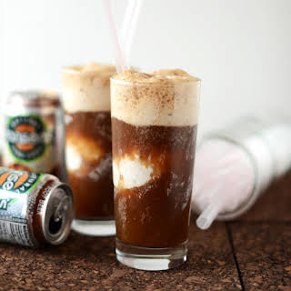 Vodka Root Beer Floats {with coconut ice cream}.