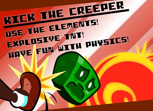 Kick the Creeper - Pixel Tap