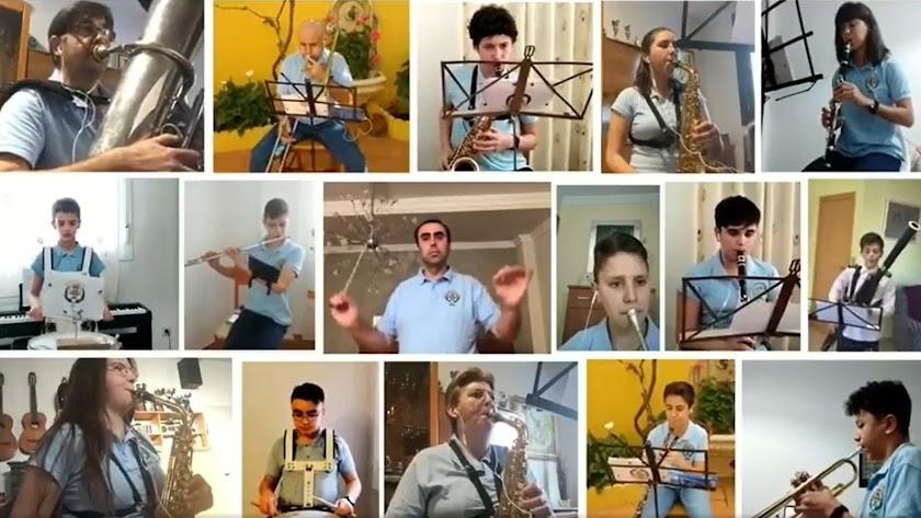 La Banda Municipal de Fiñana interpretando el pasodoble en Facebook.