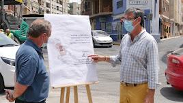 El alcalde, Manuel Cortés, y el concejal de Obras Públicas, Ignacio Jinés.