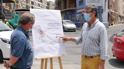 Adra lucirá nueva entrada con su escudo en el cruce de la N-340 y Natalio Rivas