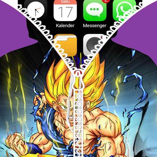 Goku Saiyan Zipper Lock Screen