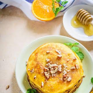 Healthy Whole Wheat Orange Pancakes.