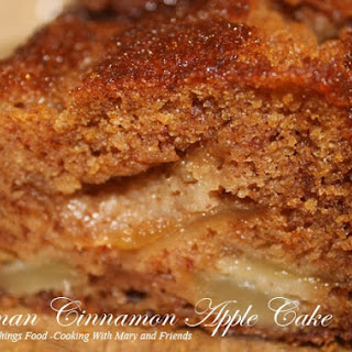 German Cinnamon Apple Cake.