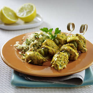 Chicken Kebabs with Fragrant Couscous.