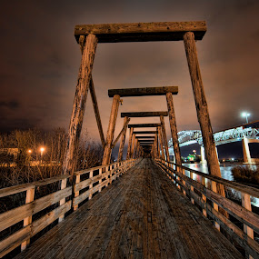Entrance to the old Interstate Bridge by Peter Stratmoen - Transportation Roads ( duluth, interstate bridge, abandoned )