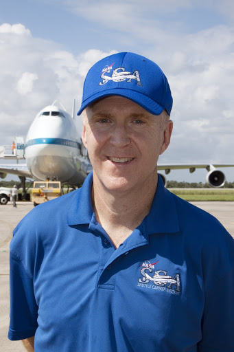 Jeff Moultrie is the pilot that will take space shuttle Endeavour from NASA's Kennedy Space Center for public display.
