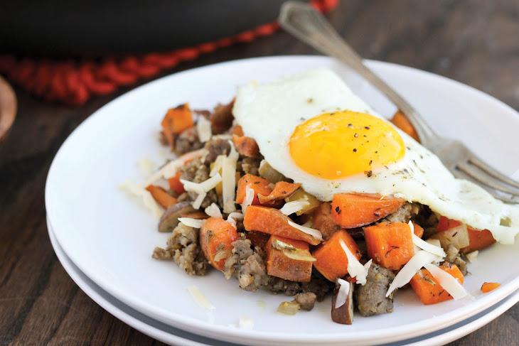 Sweet Potato & Maple Sausage Skillet Recipe
